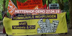 Vonovia Mieter gehen in Kiel auf die Strasse